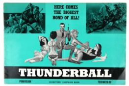 James Bond Thunderball (1965) UK Exhibitors' campaign book, with synopsis, 12 x 18 inches.