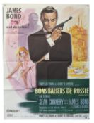 James Bond From Russia With Love (R-1980's) French Grande film poster, starring Sean Connery,