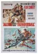 James Bond Thunderball (R-1970's) Italian One Panel film poster, starring Sean Connery, folded,