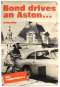 James Bond 'Bond Drives an Aston...Naturally' Thunderball film / dealership poster,