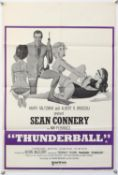 James Bond Thunderball (R-1970's) British Double Crown film poster, starring Sean Connery,