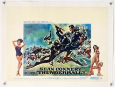 James Bond Thunderball (R-1970's) Belgian film poster, English Language, starring Sean Connery,