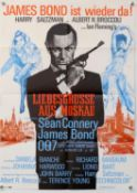 James Bond - Two German A1 film posters (R-1980's) From Russia With Love and The Man With the
