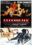 James Bond Thunderball (1965) German A1 film poster (R-1970s), 23 x 33 inches and 4 German lobby