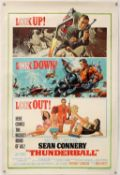 James Bond Thunderball (1965) US One sheet film poster, starring Sean Connery, artwork by Frank