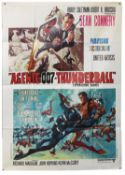 James Bond Thunderball (R-1971) Italian One panel film poster, starring Sean Connery, folded,