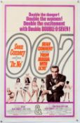 James Bond Dr. No / From Russia With Love (R-1968) US Double Bill One Sheet film poster,