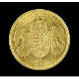 Hungarian Ferencz Jozsef 10 Korona 1899 gold coin