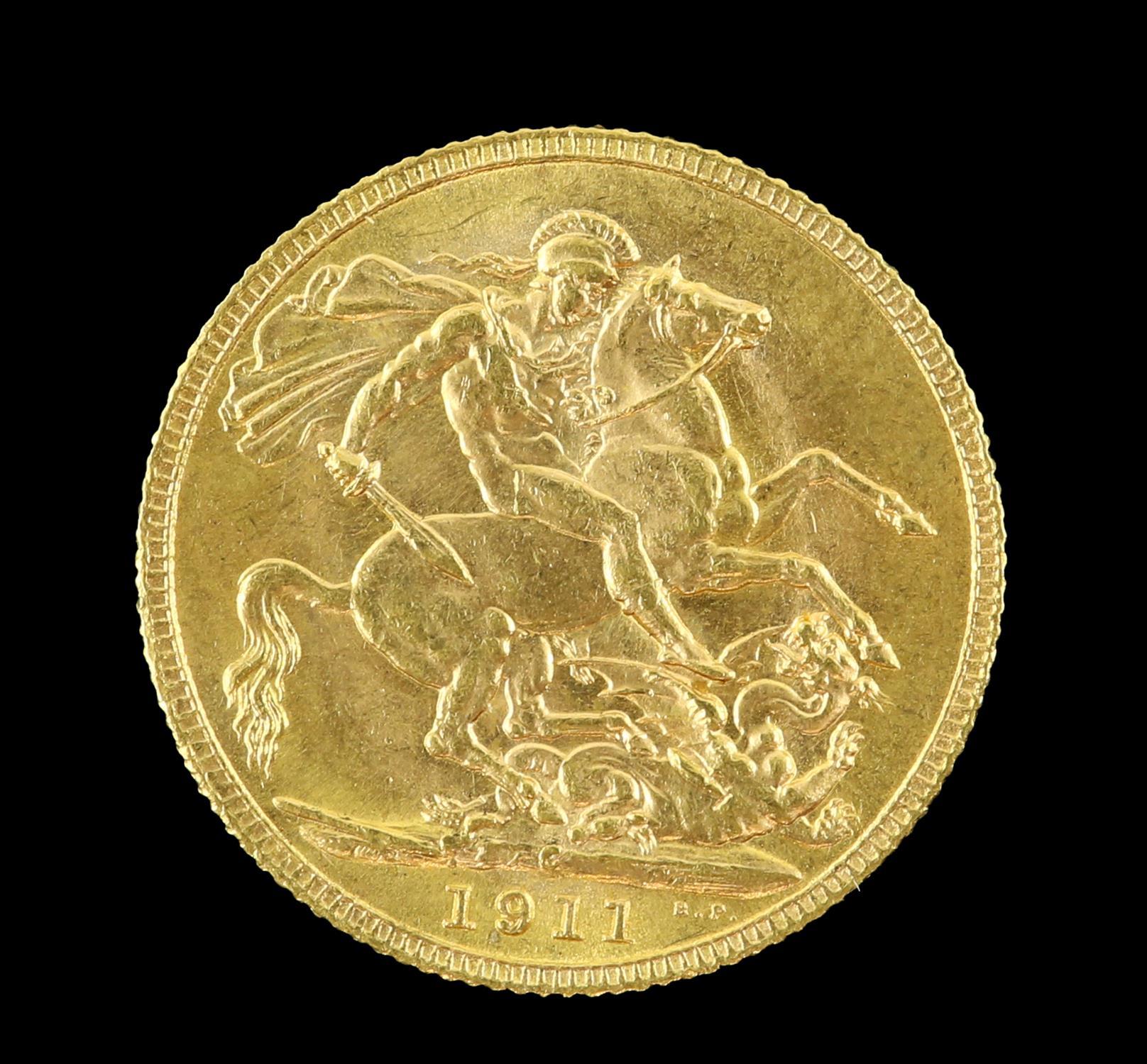 George V gold sovereign 1911