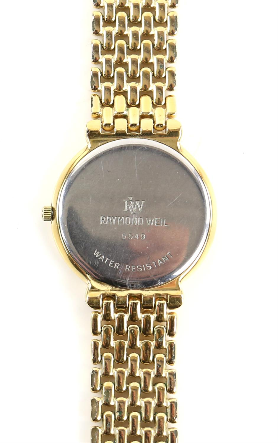 Raymond Weil, A Gentleman's reference 6549 dress watch with white enamel dial, baton hour markers, - Image 4 of 11