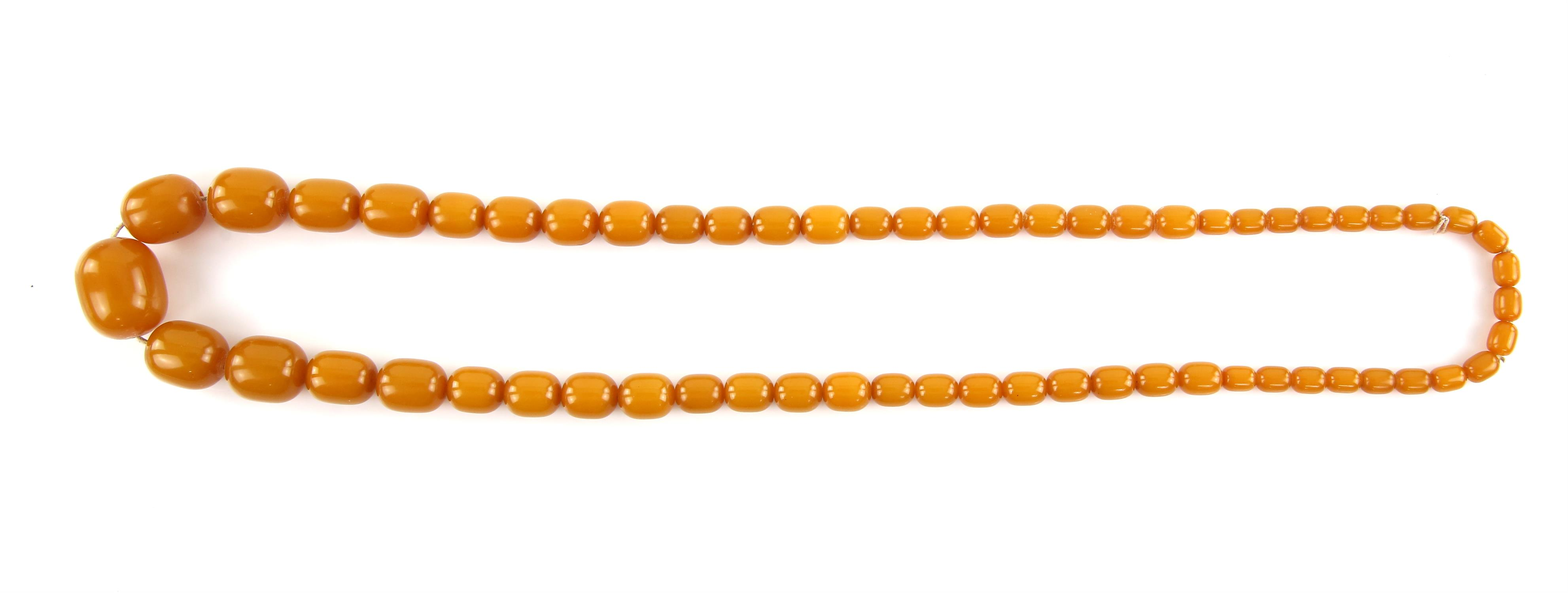1920's plastic graduated bead necklace, the largest bead is 3x2.5cm and the length is approximately - Image 2 of 2