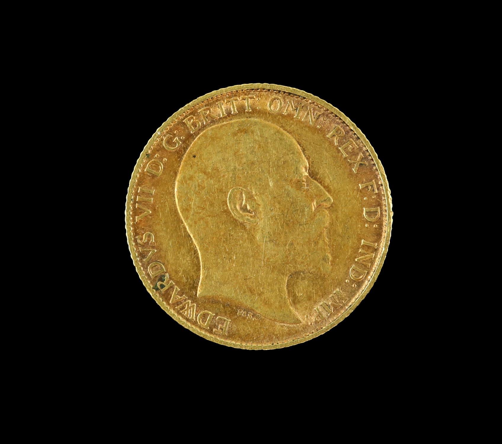 Edward VII gold half sovereign 1906 - Image 2 of 2