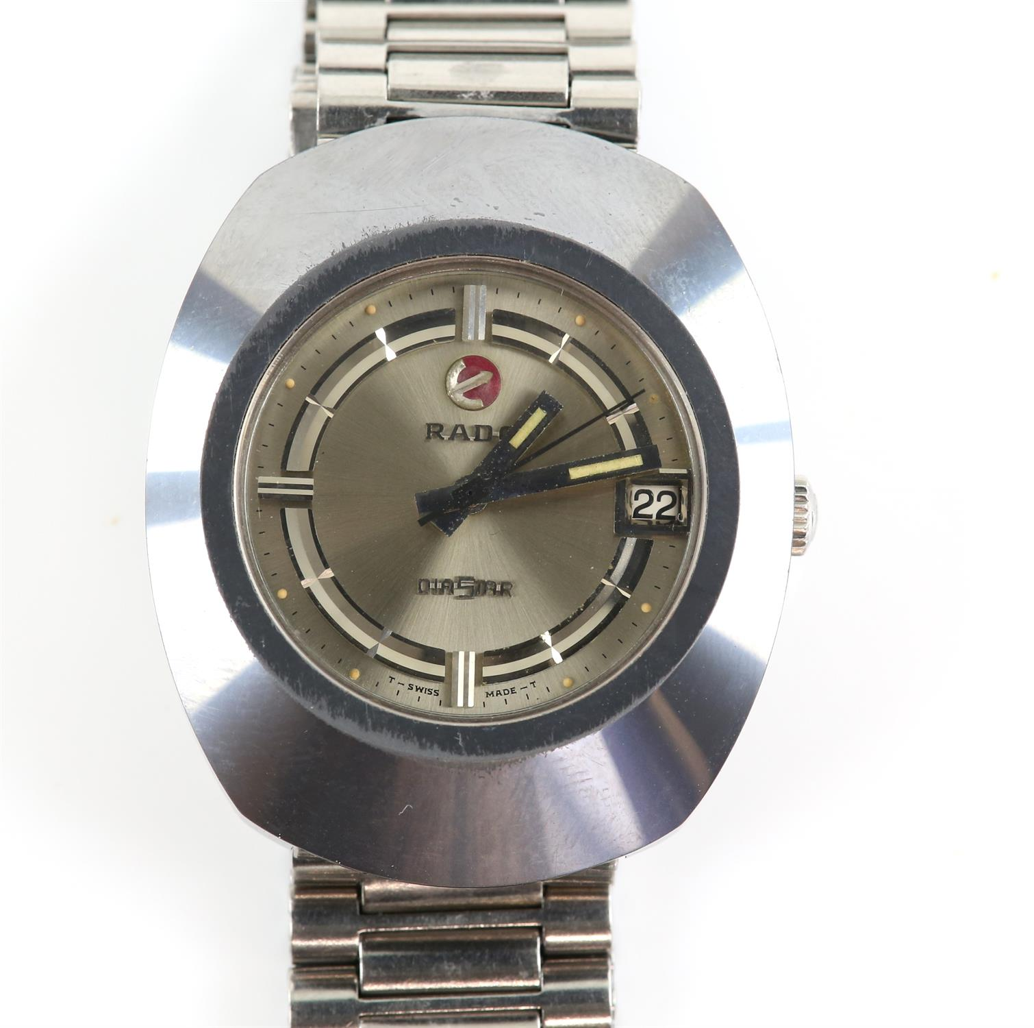 A Gentleman's Rado DiaStar wristwatch, the signed dial with raised chapter ring with hour markers,
