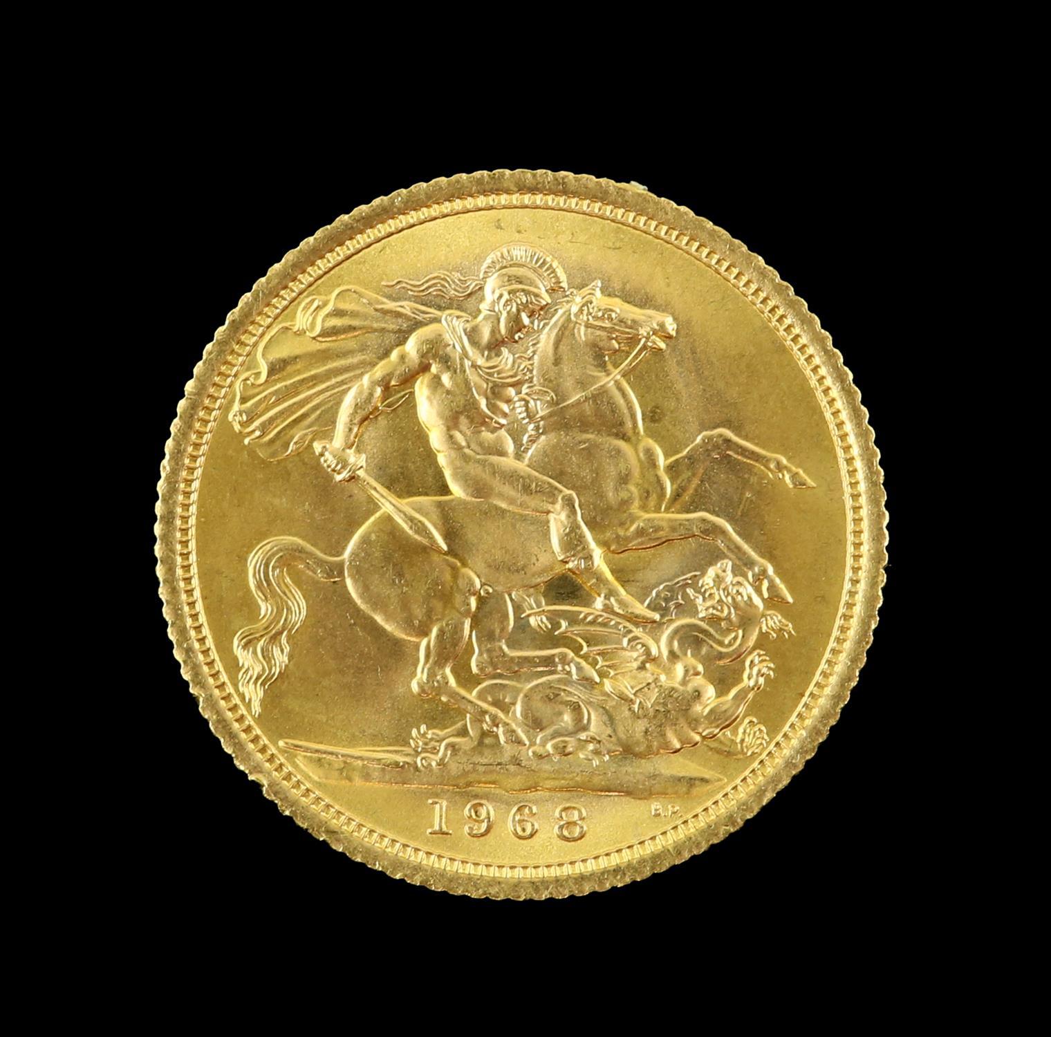 Elizabeth II gold sovereign 1968