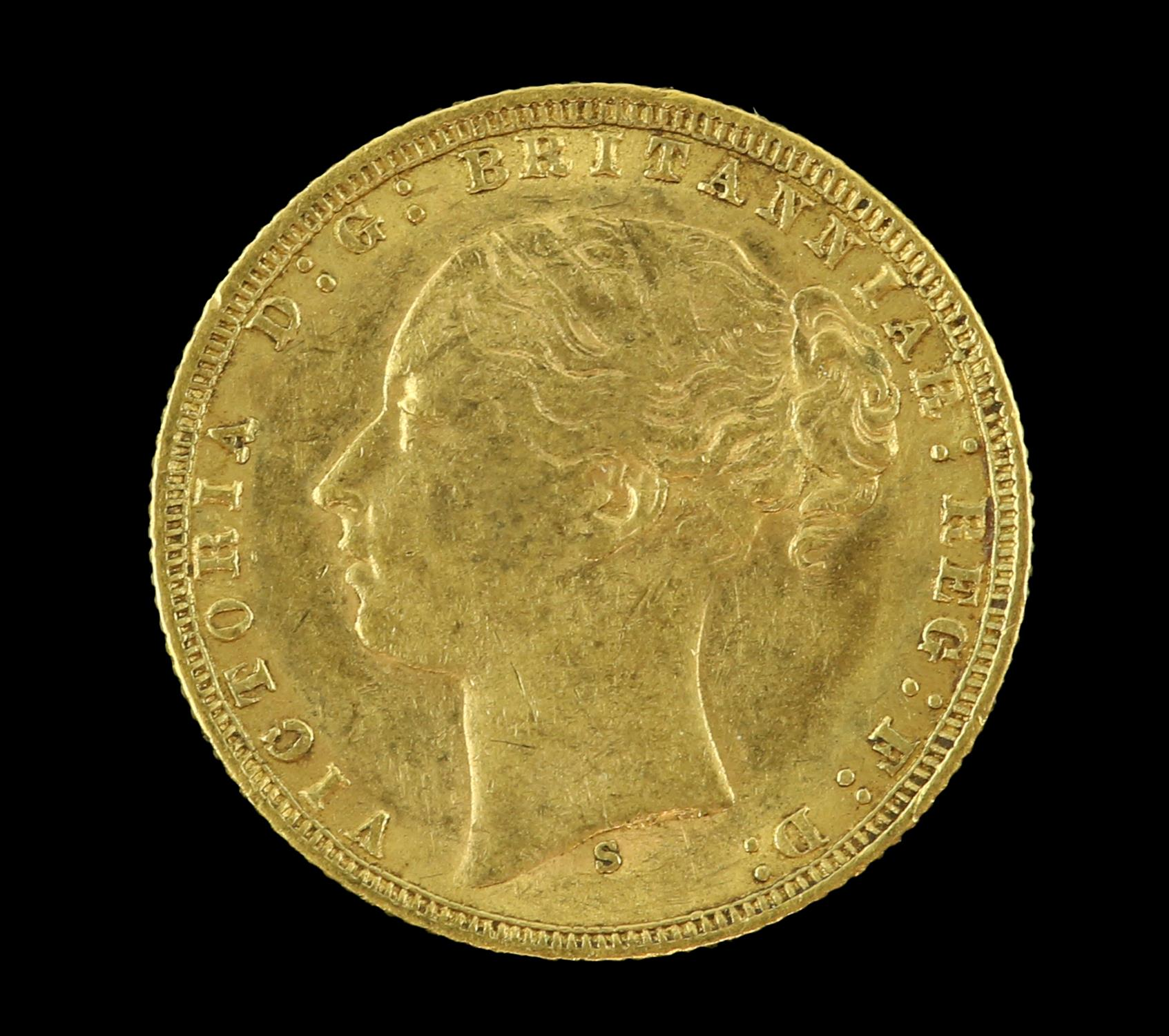 Victorian gold sovereign 1876, young head - Image 2 of 2