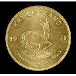 South Africa gold Krugerrand 1971