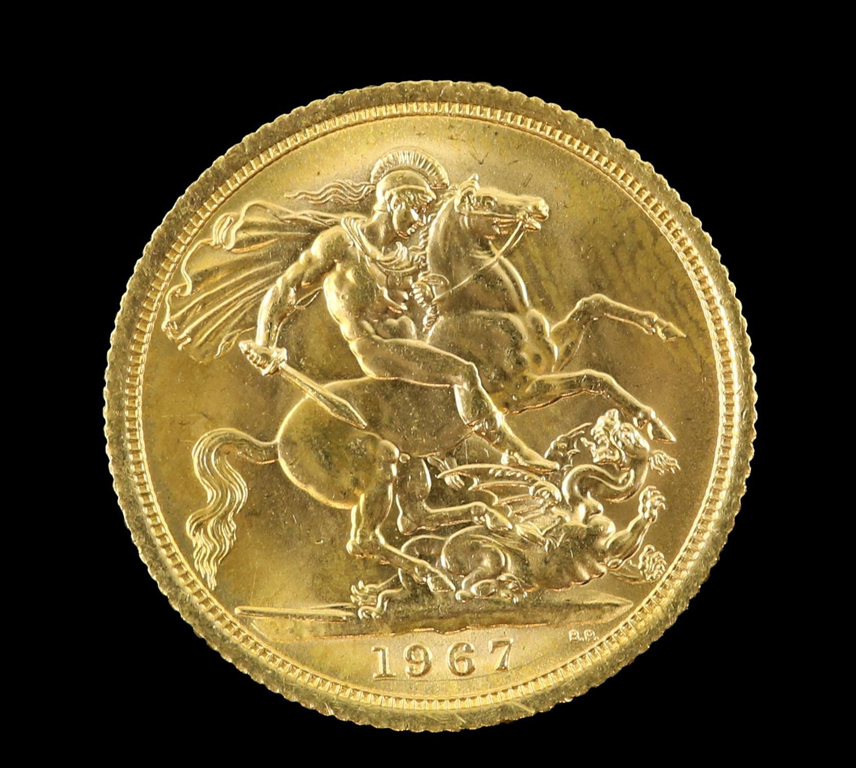 Elizabeth II gold sovereign 1967