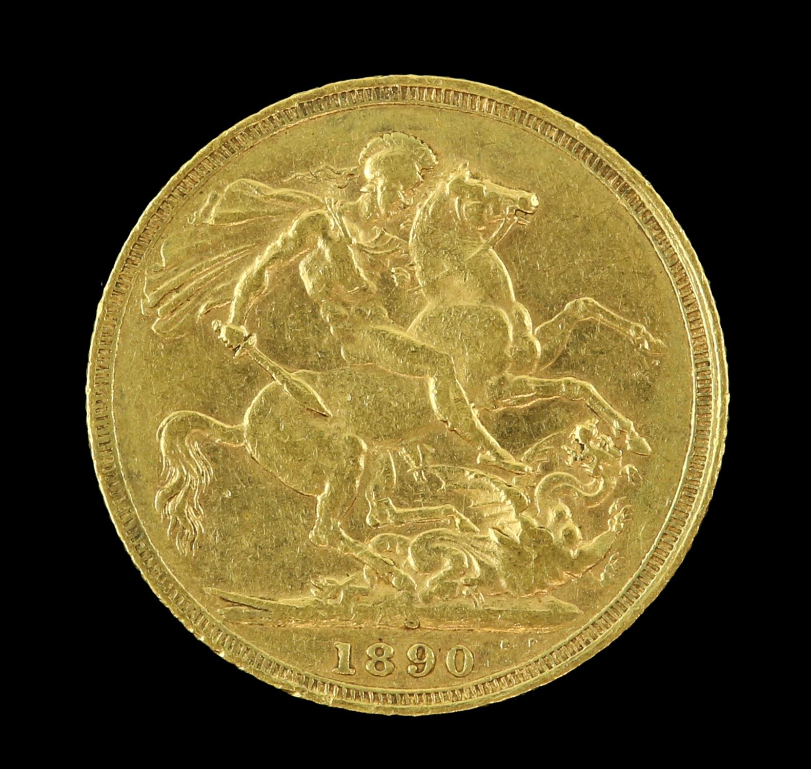 Victorian gold sovereign 1890, Sydney mint