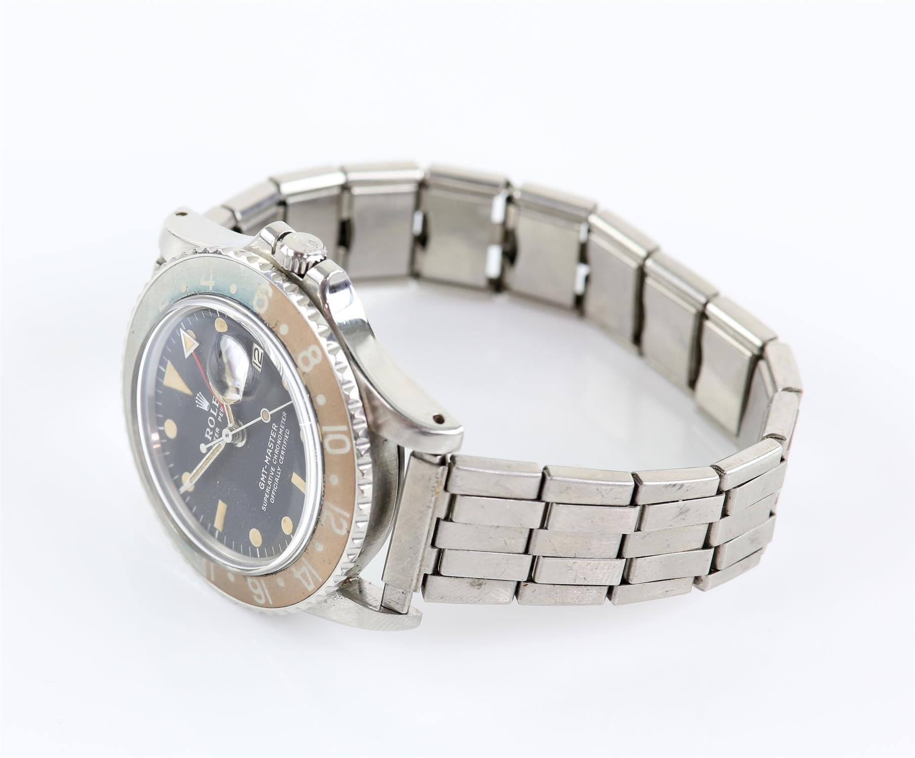 Rolex A gentleman's reference 1675 stainless steel GMT 'ghost dial' wristwatch, the signed dial - Image 3 of 4