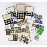 A large collection of coins, comprising a quantity of world coinage as taken from circulation,
