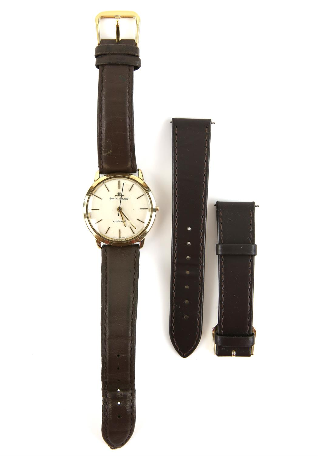 Jaeger Le Coultre, Reference 386 91 A Gentleman's gold cased wristwatch, signed silvered dial with - Image 4 of 4