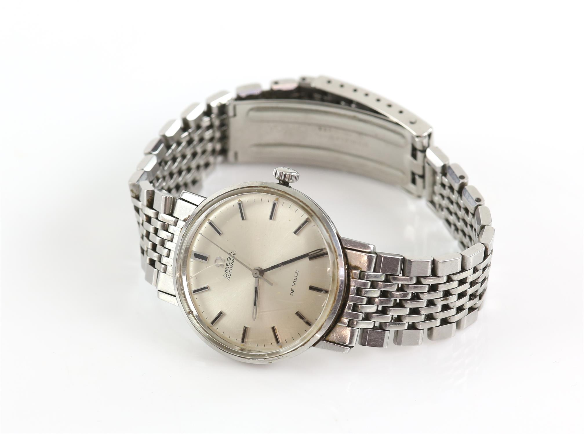 Omega, A Gentleman's Seamaster De Ville, stainless steel wristwatch, the signed silvered dial with - Image 2 of 2