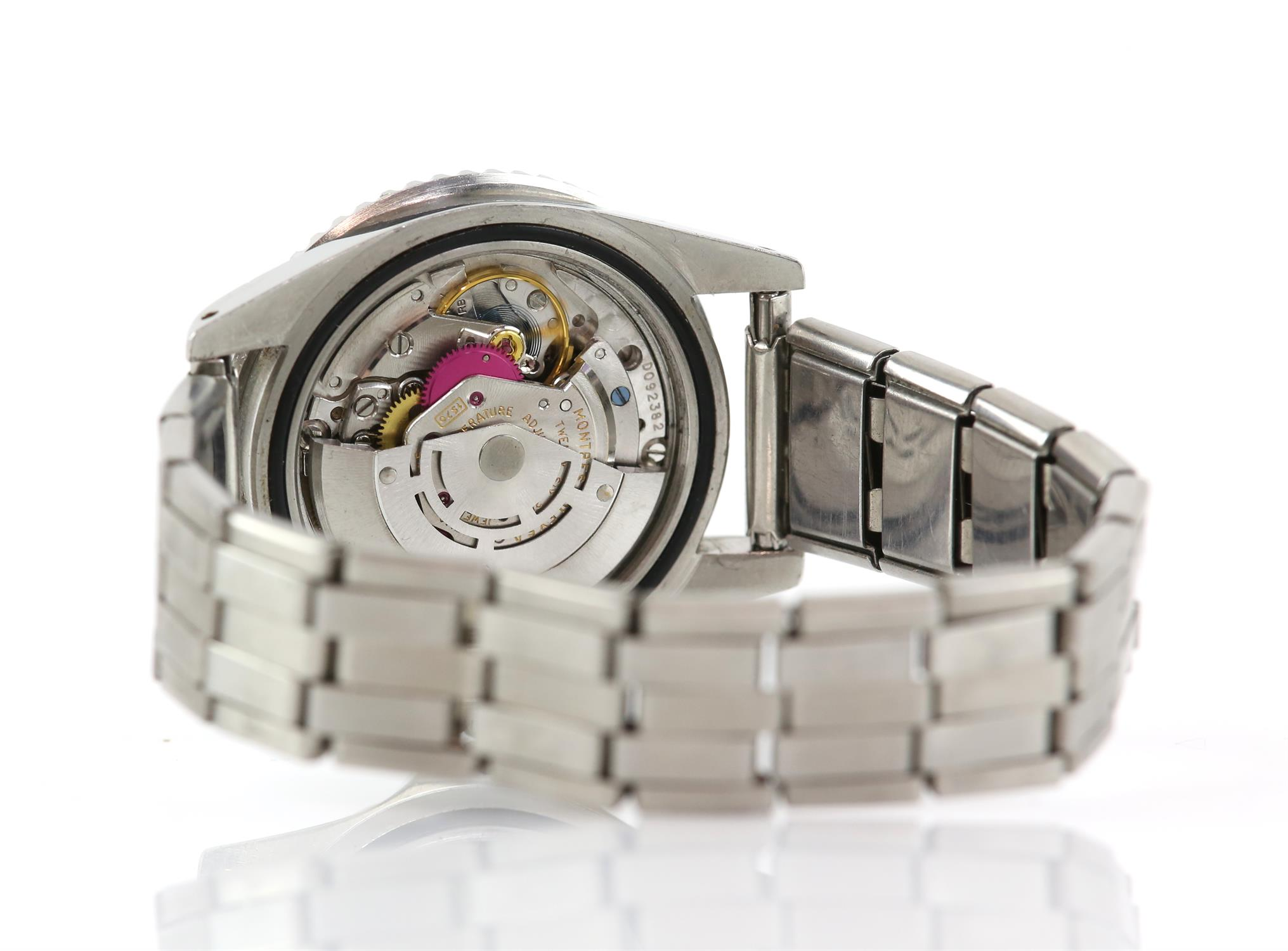 Rolex A gentleman's reference 1675 stainless steel GMT 'ghost dial' wristwatch, the signed dial - Image 4 of 4