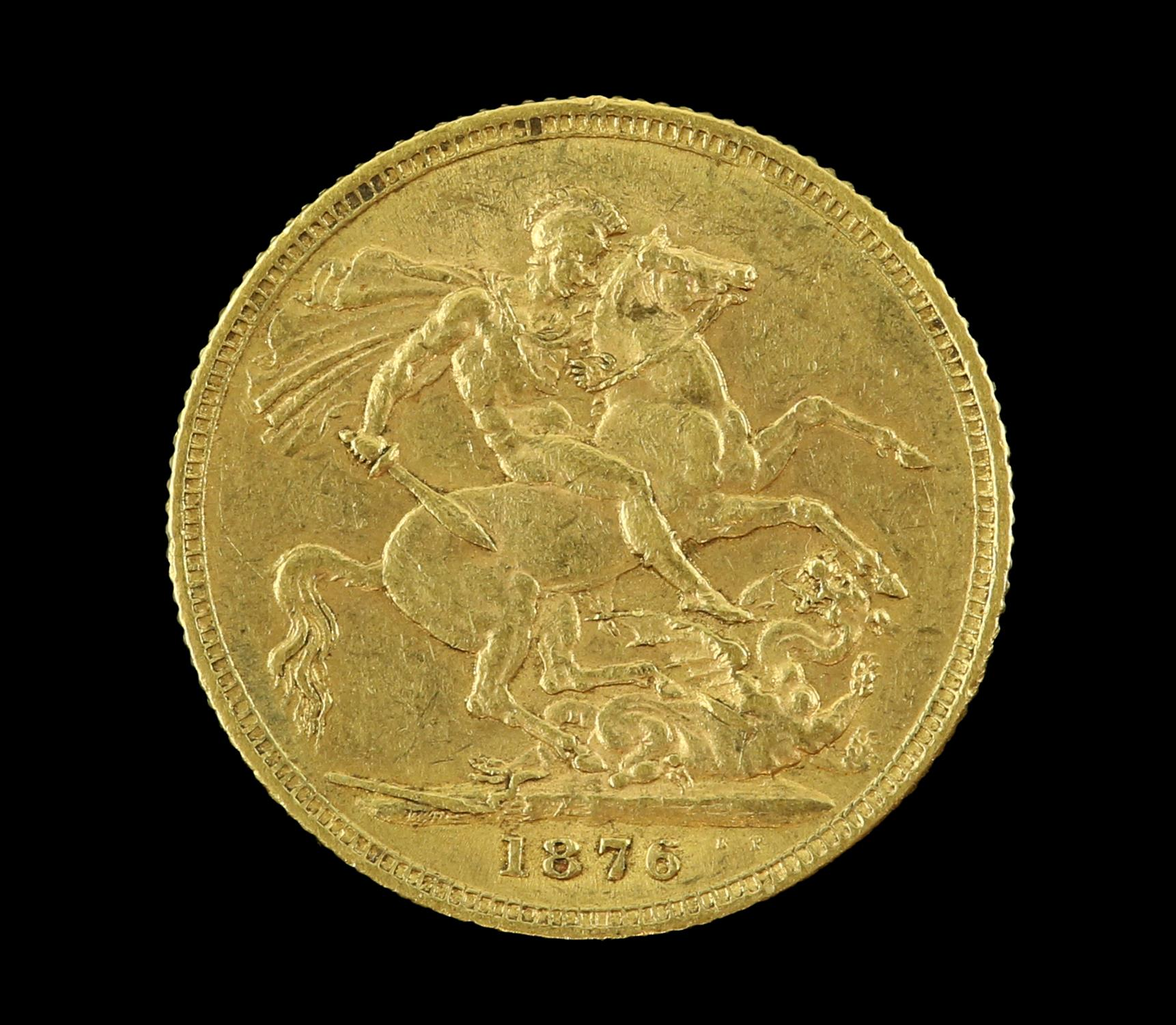 Victorian gold sovereign 1876, young head