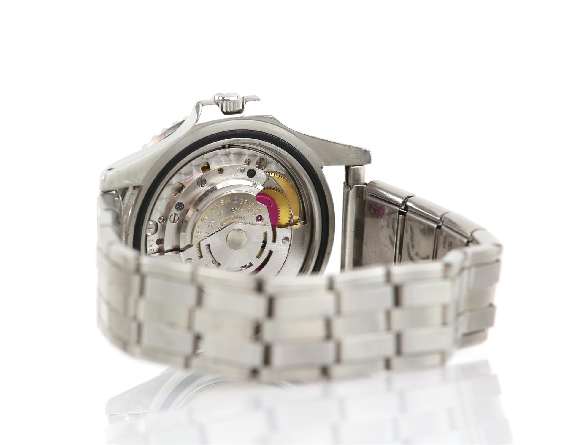 Rolex A gentleman's reference 1675 stainless steel GMT 'ghost dial' wristwatch, the signed dial - Image 2 of 4