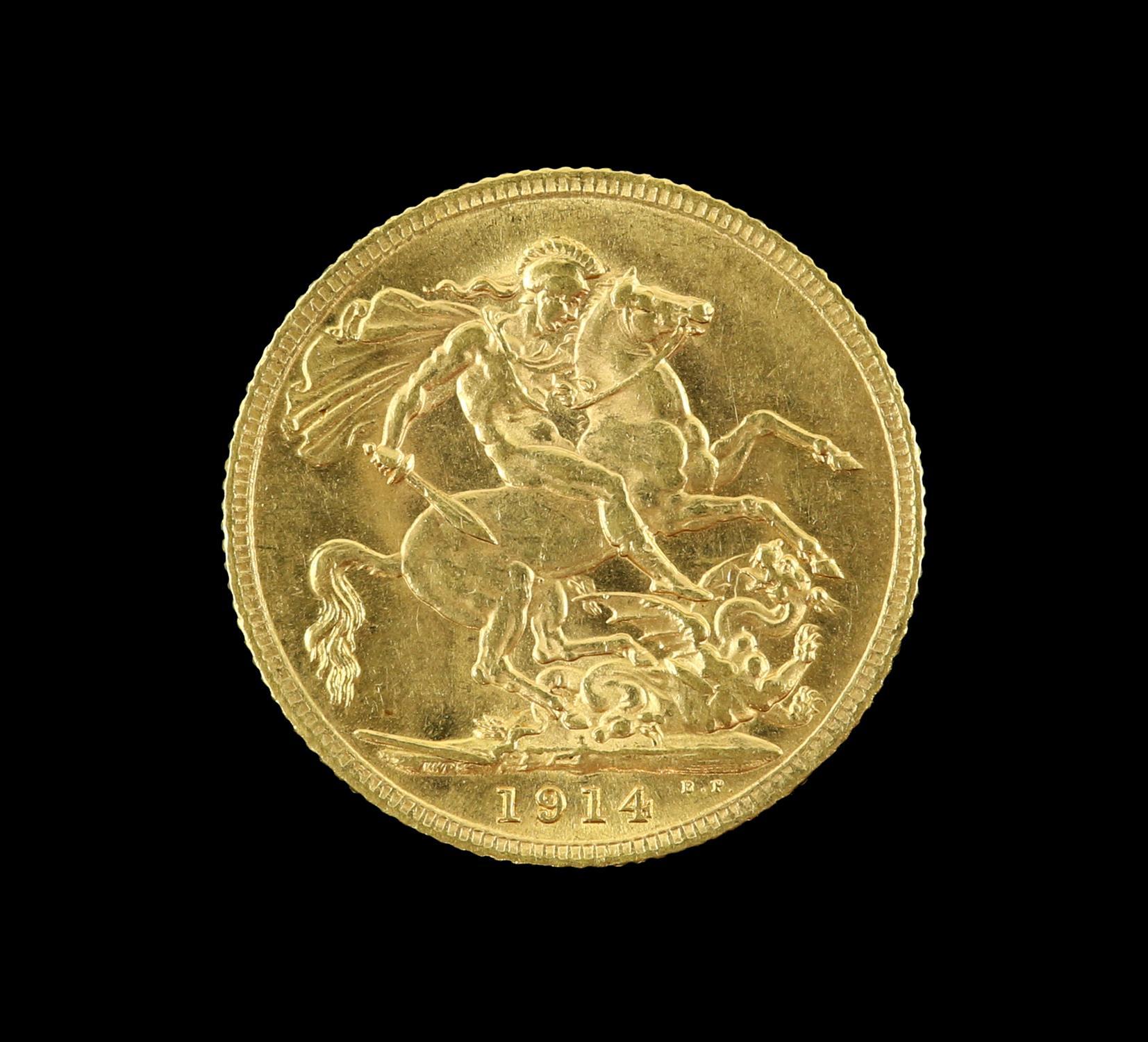George V gold sovereign 1914