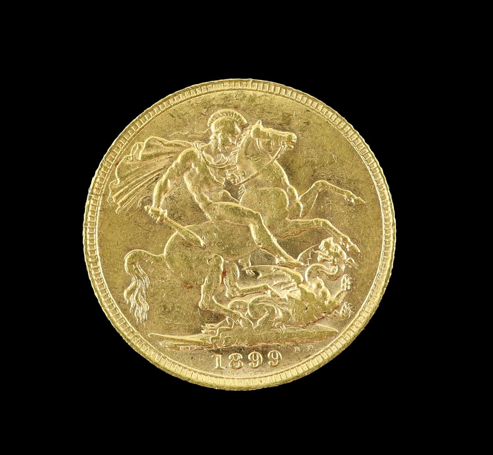 Victorian gold sovereign 1899