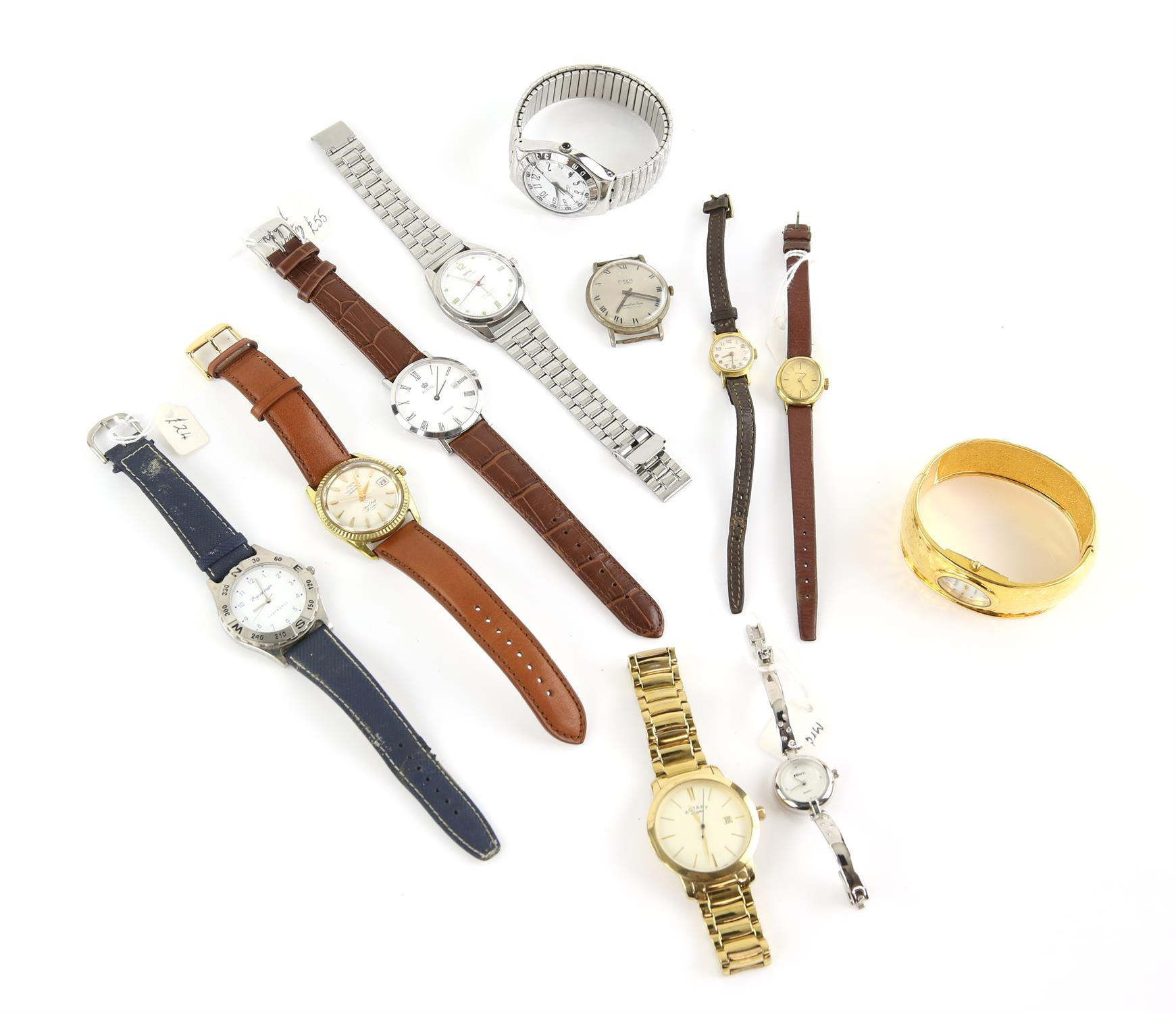 A group of assorted ladies and gentleman's wristwatches, including a Gentleman's stainless steel