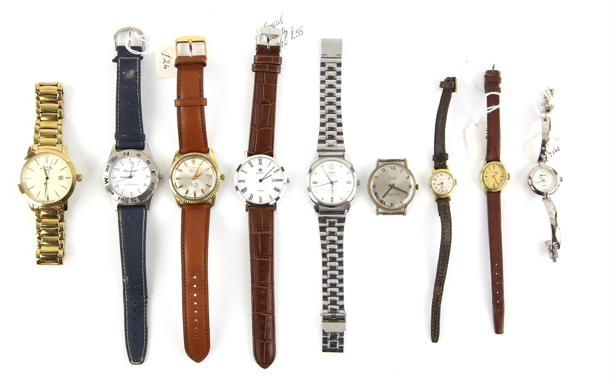 A group of assorted ladies and gentleman's wristwatches, including a Gentleman's stainless steel - Image 2 of 2