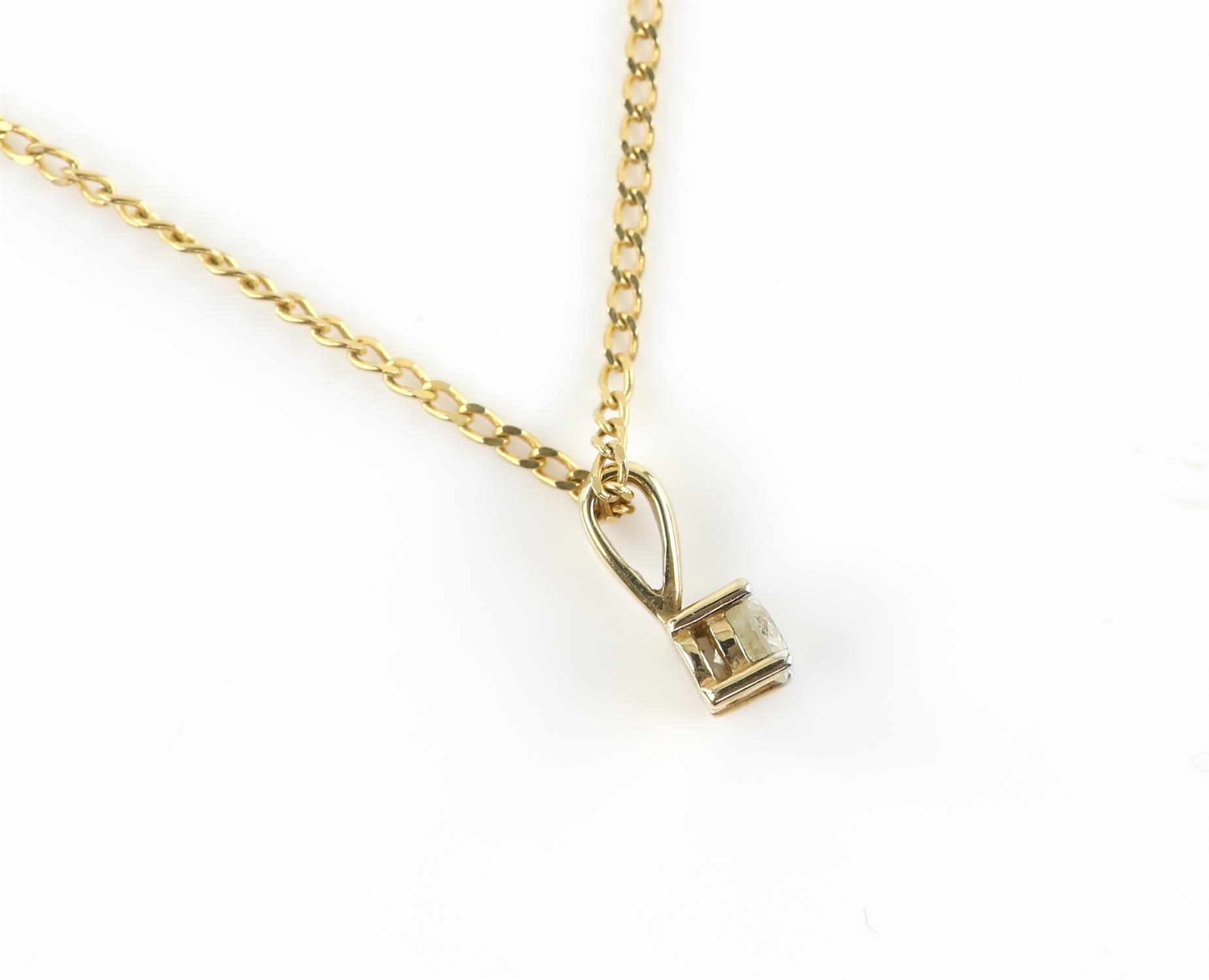 Single stone diamond pendant, round brilliant cut diamond weighing an estimated 0.23 carat, - Image 2 of 2