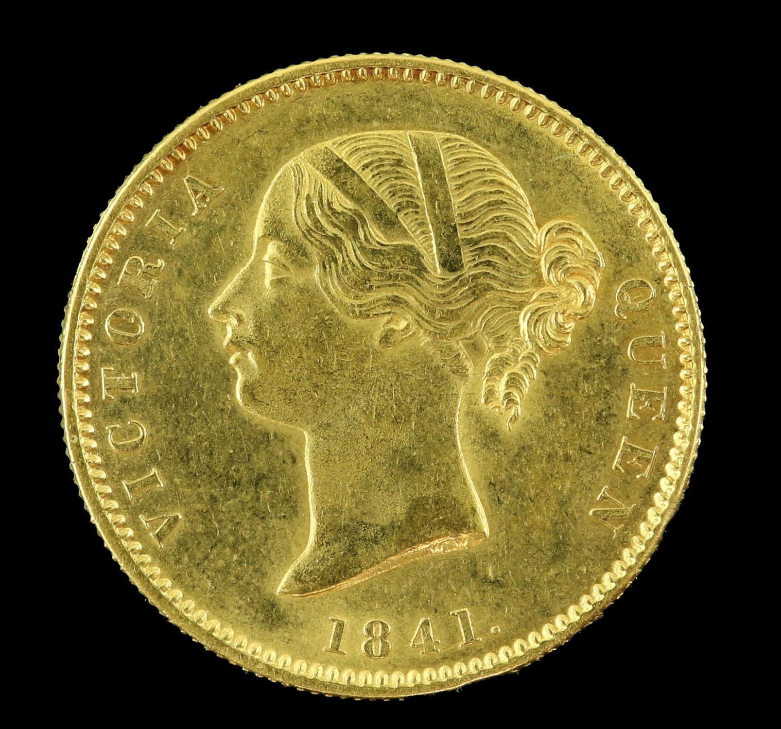 East India Company gold Mohur 1841 - Image 2 of 2