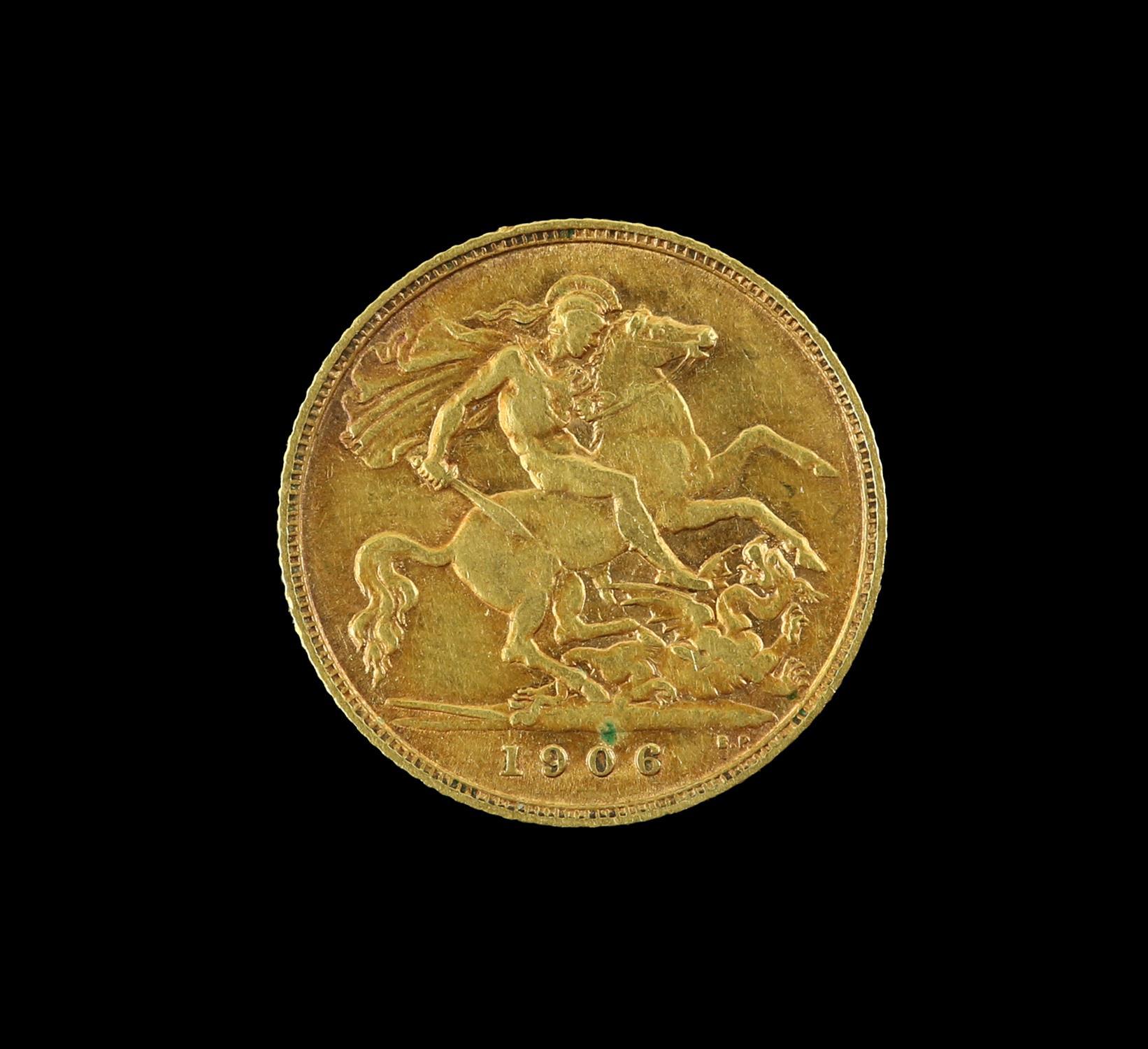 Edward VII gold half sovereign 1906