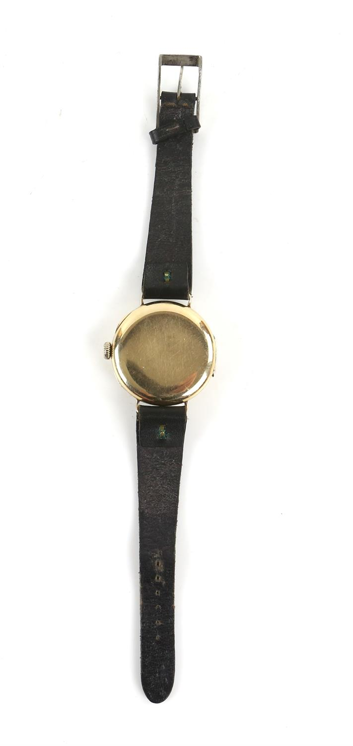 Ulysee Nardin, a Gentleman's gold wristwatch in circular case, the signed white enamel dial with - Image 7 of 10
