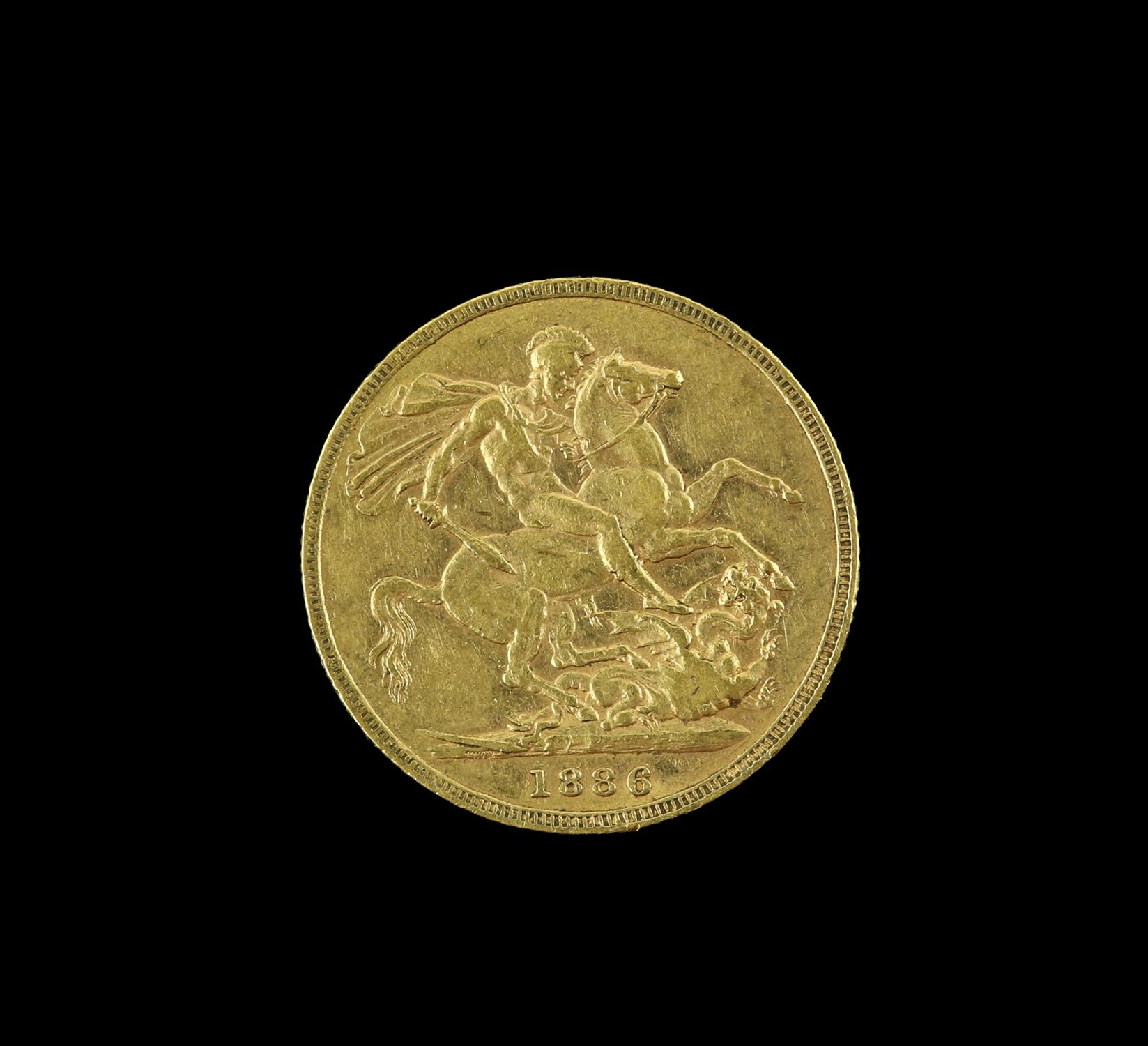 Victorian gold sovereign 1886, young head