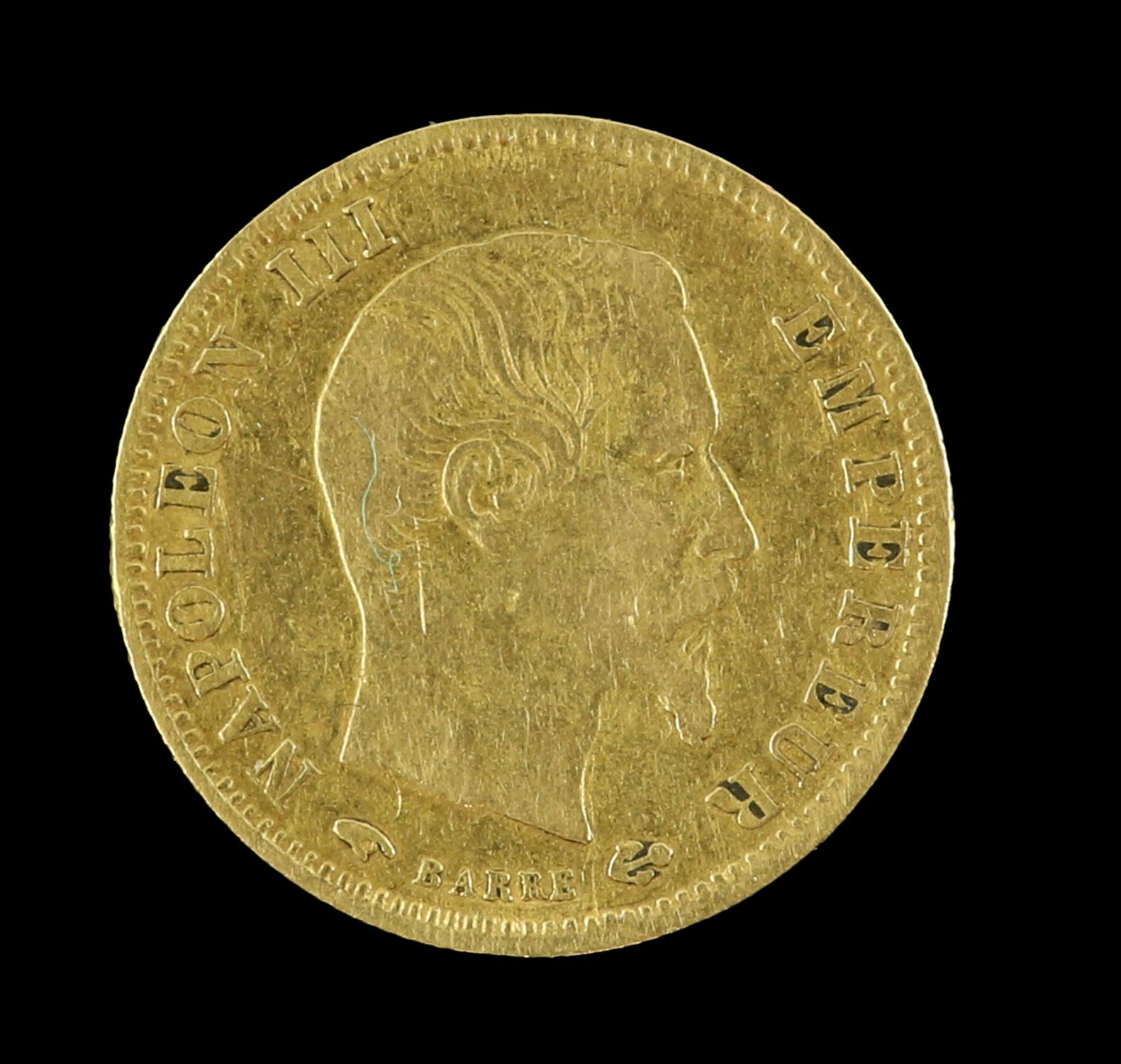 Napoleon III 1856 French 5 Franc gold coin - Image 2 of 2