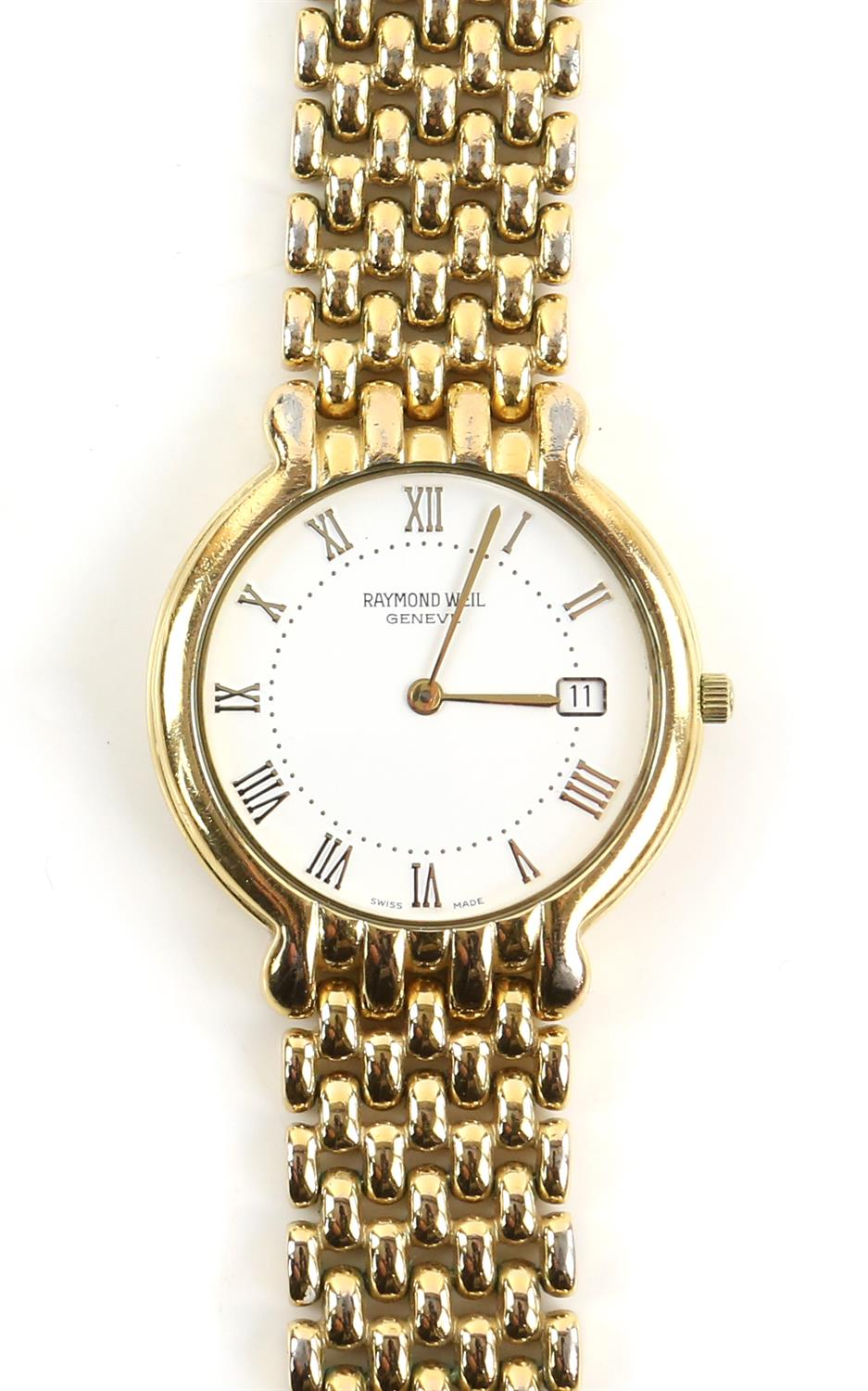 Raymond Weil, A Gentleman's reference 6549 dress watch with white enamel dial, baton hour markers, - Image 3 of 11