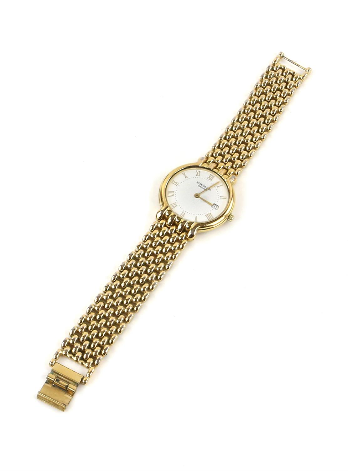 Raymond Weil, A Gentleman's reference 6549 dress watch with white enamel dial, baton hour markers, - Image 2 of 11