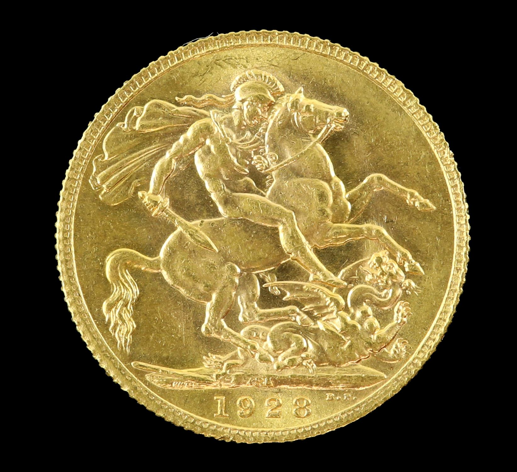 George V gold sovereign, South Africa 1928