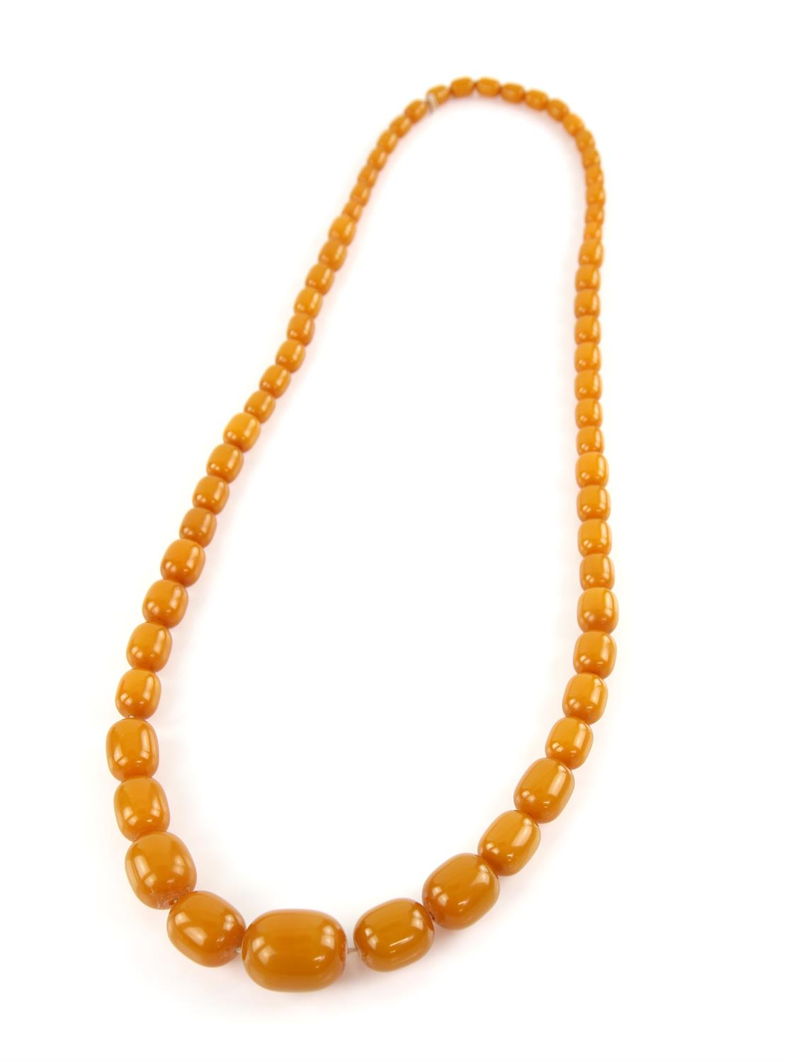 1920's plastic graduated bead necklace, the largest bead is 3x2.5cm and the length is approximately