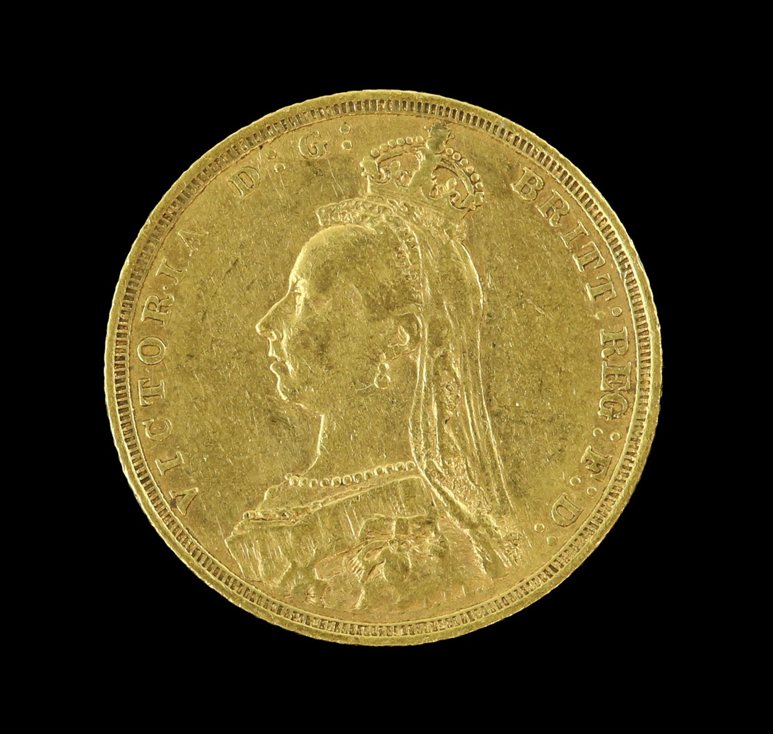 Victorian gold sovereign 1890, Sydney mint - Image 2 of 2