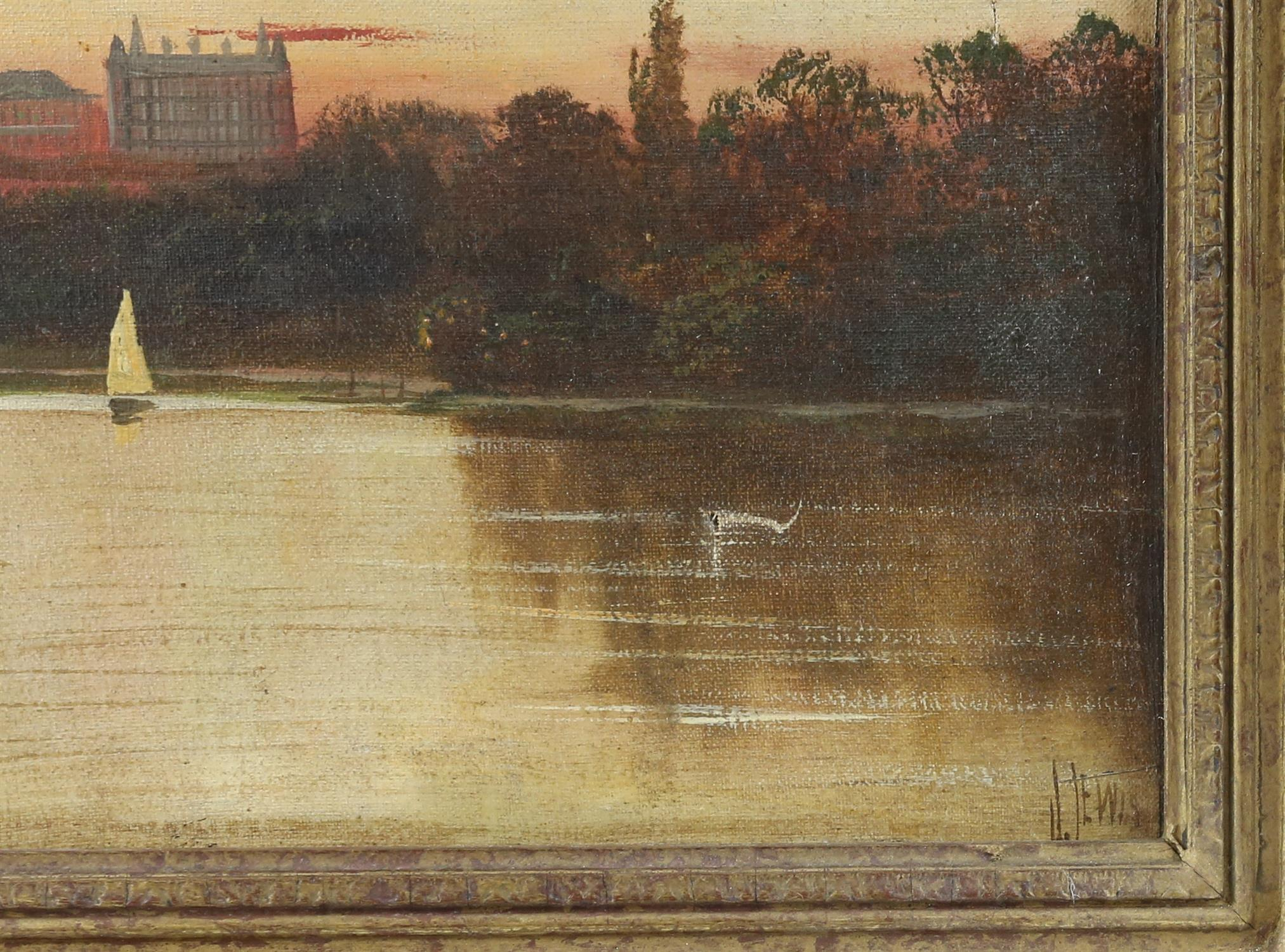 James Isiah Lewis (British, 1860-1934), Star and Garter, Richmond on Thames, View from Marble Hill - Image 3 of 5
