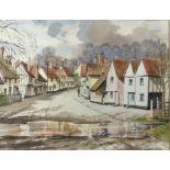 "Cyril Garman (20th Century British), ""Sailing Barges, Deben Estuary"", watercolour, signed,"