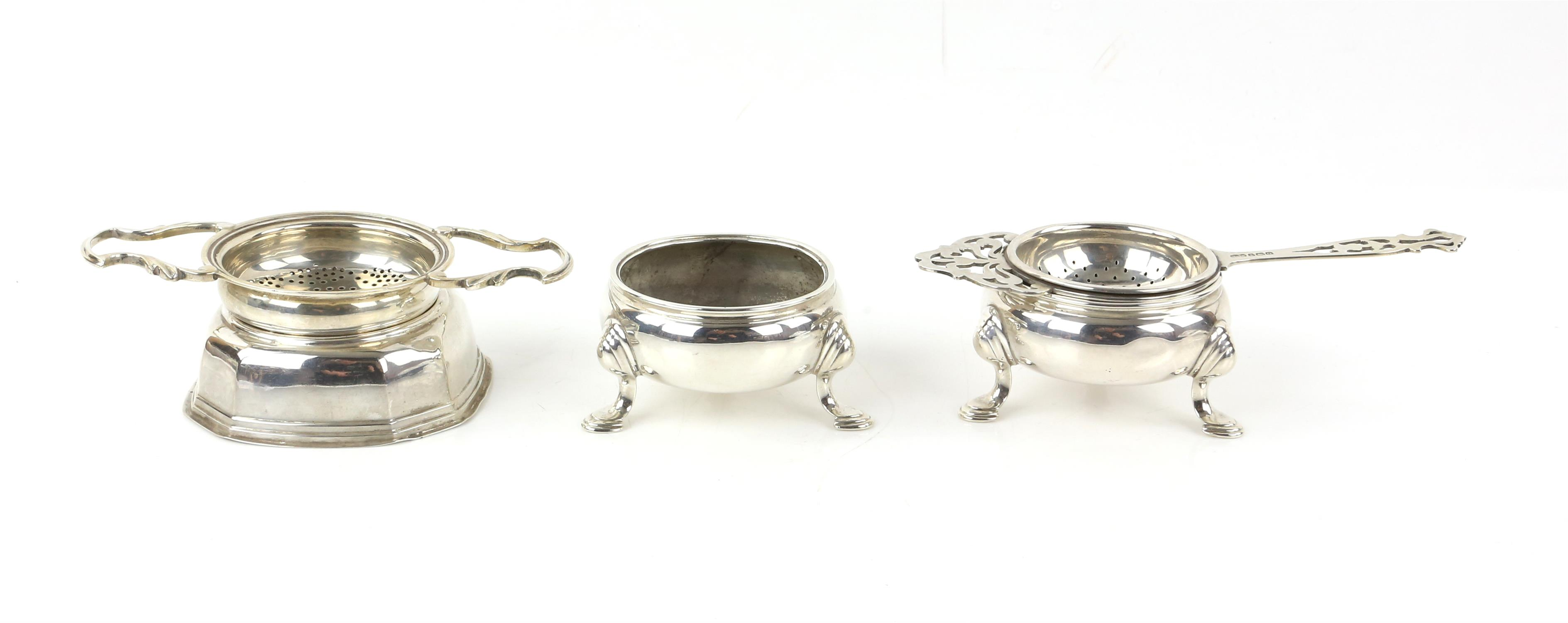 Two matched George III silver cauldron form salts, each on three hoof feet, marks rubbed,