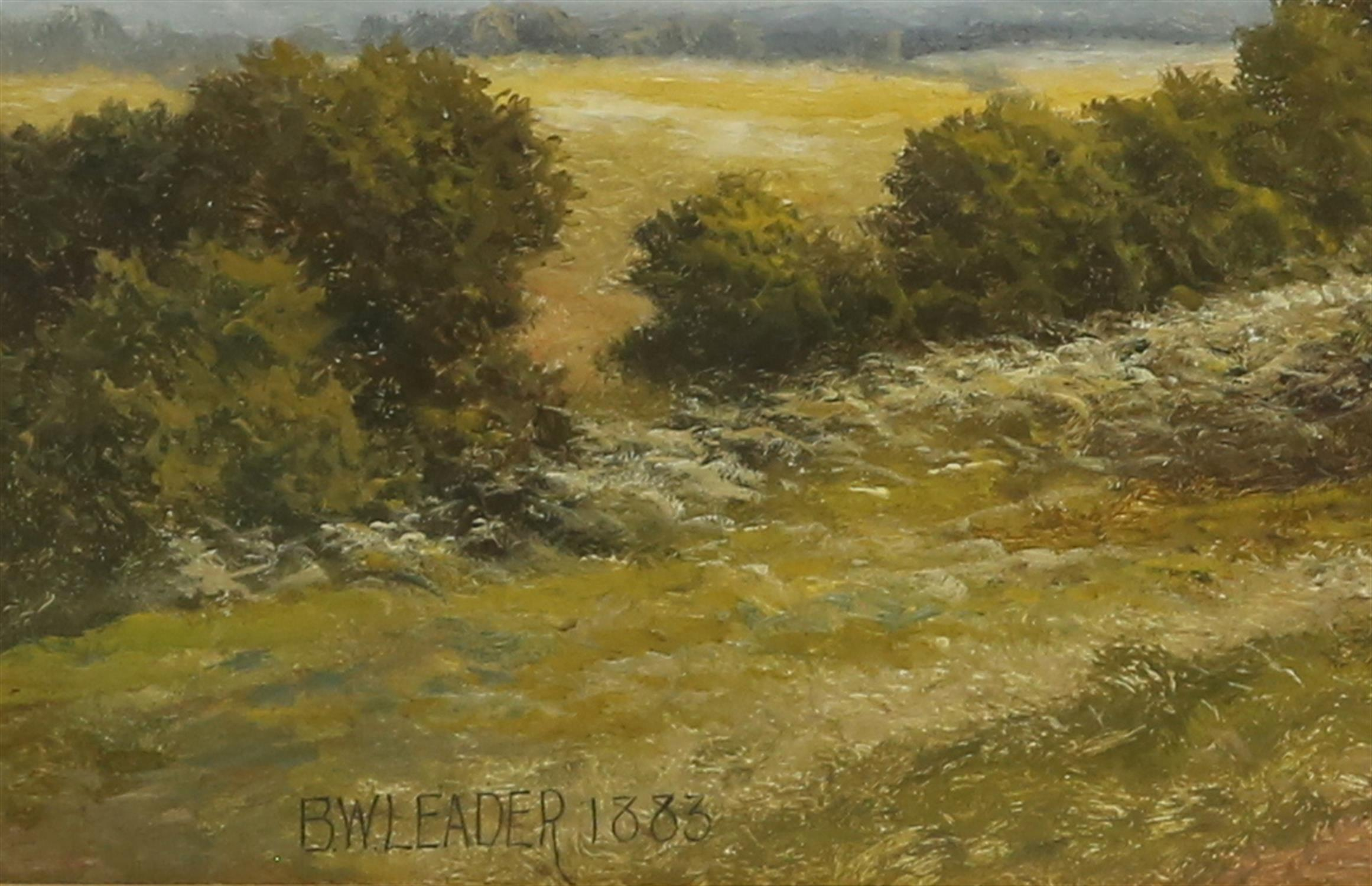 Benjamin Williams Leader RA (1831-1923), 'Blean Common, Kent', oil on canvas, signed and dated 1883 - Image 3 of 5