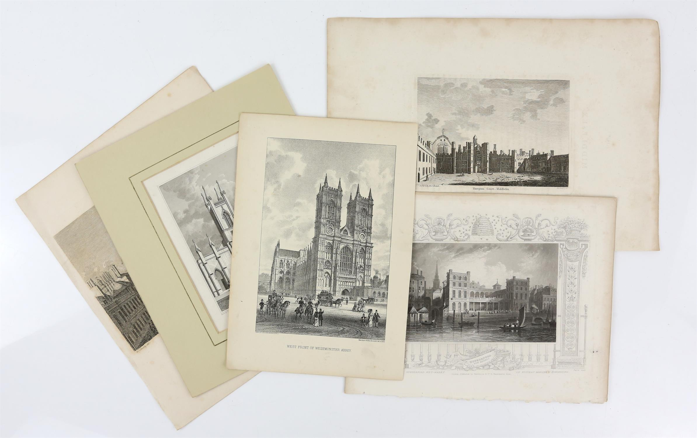 Large quantity of 18th and 19th century topographical engravings. Approx. 200 including 50+ London - Image 4 of 6