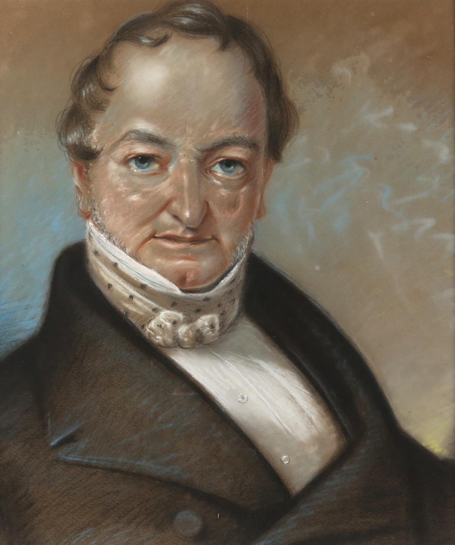 Portrait of a Gentleman, pastel. Circa 1820. 42 x 32.5cm. Framed and glazed.